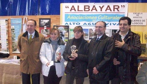 Autoridades y premiadas en 2010 en el certámen ExpoAlbayar